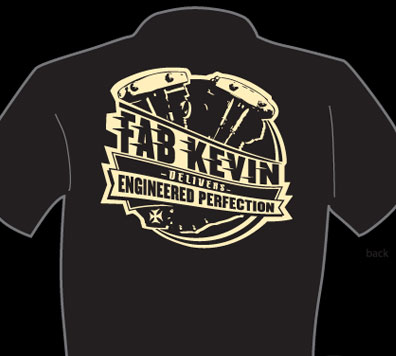 Fabricator Kevin NEW LOGO T-SHIRTS!!!