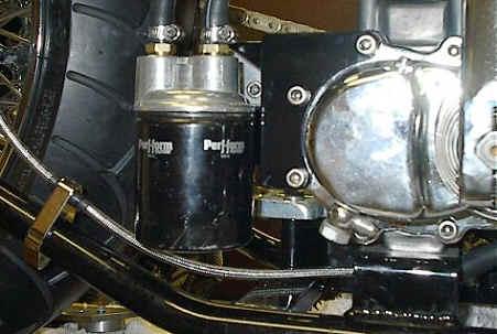 Remote Oil Filter Adapter Bracket