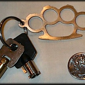 Brass Knuckle Key Fobs