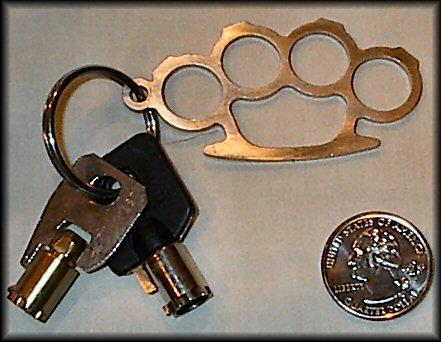 Brass Knuckle Key Fobs